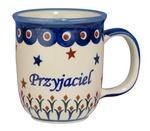 New Polish Pottery 12oz Mug - PRZYJACIEL, FRIEND (M)