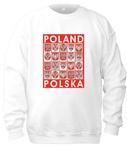 Poland Crests - Adult Crew Neck Sweatshirt