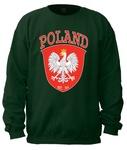POLAND Shield est. 966 - Adult Crew Neck Sweatshirt