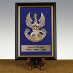 Polish Army Framed Eagle, 4x6 inches