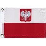 """Polish Boat Flag with Eagle 11"""" x 15"""""""