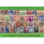 Polish Collectible Postmarked Stamp Sets - 100 from 1918-39