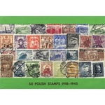 Polish Collectible Postmarked Stamp Sets - 50 from 1918-1945