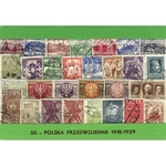 Polish Collectible Postmarked Stamp Sets - 50 from 1918-1939