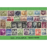 Polish Collectible Postmarked Stamp Sets - 100 from 1920-39