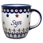 Polish Pottery 12oz Mug - SYN, SON