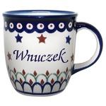Polish Pottery 12oz Mug - WNUCZEK, GRANDSON