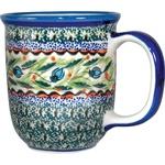 Polish Pottery 12oz Mug - Unique Design # A122