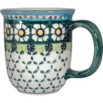 Polish Pottery 12oz Mug - Artistic Design # 025