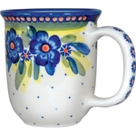Polish Pottery 12oz Mug - Artistic Design # 020