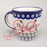 Polish Pottery 12oz Mug - CORKA, DAUGHTER