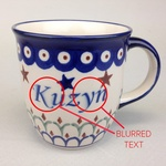 Polish Pottery 12oz Mug - KUZYN, COUSIN (M)