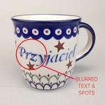Polish Pottery 12oz Mug - PRZYJACIEL, FRIEND (M)