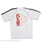 POLSKA Eagle Soccer Athletic T-Shirt - White Background