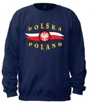 POLSKA-POLAND - Adult Crew Neck Sweatshirt