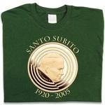 Pope John Paul II Santo Subito - Adult T-Shirt