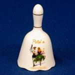 Porcelain Hand Bell - Highlander Dancers
