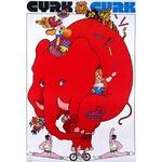 Poster - W. Swierzy Red Elephant on the Bike