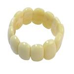Pressed Yellow Amber Bracelet