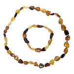Pure Amber Bracelet and Necklace