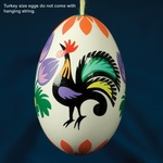 Real Eggs - Rooster Wycinanki Design