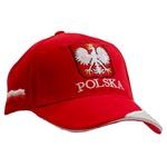 Red Baseball Cap - POLSKA & Eagle Shield