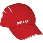 Red Bicyclists Microfiber Cap - POLSKA
