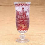 Red Colored Crystal - Vase with Tadeusz Kosciuszko Scene