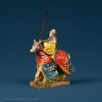 Resin Statue - Medieval Polish Mounted Knight #3-Silver Mail