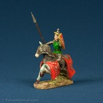 Resin Statue - Medieval Polish Mounted Knight #4-Green Mail