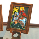 Reverse Glass Painting - Saint George, 9x12 inches