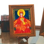 Reverse Glass Painting - Virgin Mary, 9x11 inches