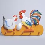 Rooster & Hen Large Coat Hanger