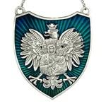 Ryngraf - Black Madonna on White Eagle, Blue, Antique Silver