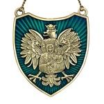 Ryngraf - Black Madonna on White Eagle, Blue, Antique Gold
