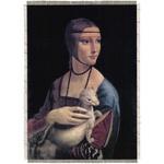 "Silkscreen - Da Vinci: A Lady with an Emine, 8.25"" x 11.25"""
