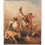 """Silkscreen - J.Kossak: Hunter with a Hen, 10"""" x 11.5"""""""
