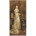 """Silkscreen - T. Ajdukiewicz: Modrzejewska Portrait, 5"""" x 11"""""""