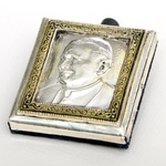 Silver & Gold Plated Image - Pope John Paul II