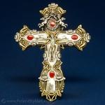 Silver Plated Art Nouveau Crucifix - Wall Hanging (9x13)