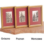 Silver Plated Framed Image - Town Squares of Poland
