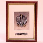 Silver Plated Framed Image - Polish White Eagle