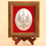Silver Plated Icon - 1918 Independence Crowned White Eagle