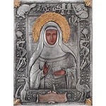 Silver Plated Icon - Blessed Mary MacKillop of Australia