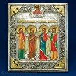 Silver Plated Icon - Four Saints #2