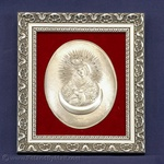 Silver Plated Icon - Sharp Gate Madonna #2 (6x7)