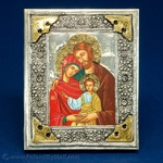 Silver Plated Icon - The Holy Family #2 (9x12)