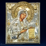 Silver Plated Icon - The Bogolyubsky Virgin #1