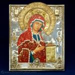 Silver Plated Icon - The Bogolyubsky Virgin #2
