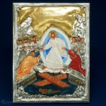 Silver Plated Icon - The Resurrection (The Anastasis)